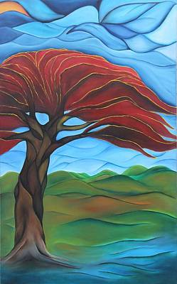 Puerto Rico Painting - Whispers Of A Flamboyan by Janice Aponte