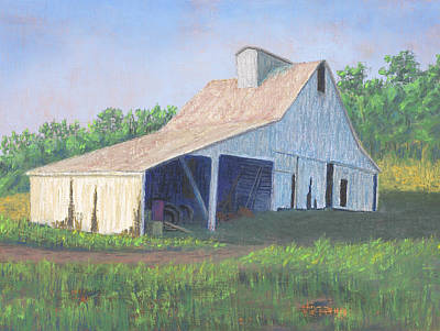White Barn On Bluff Road Art Print by Garry McMichael