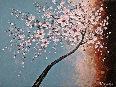 Sakura Painting - White Blossoms by Tomoko Koyama