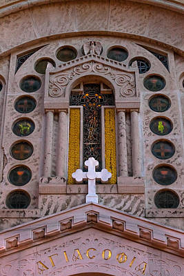 Photograph - White Cross At St Sophia by Ed Gleichman