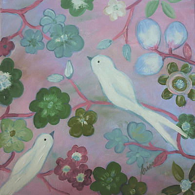 Painting - White Doves by Pristine Cartera Turkus