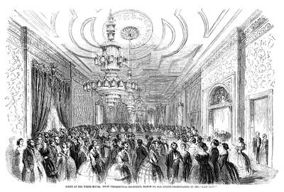 Ballroom Painting - White House Reception by Granger