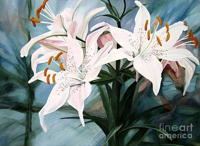 Painting - White Lilies by Laurie Rohner