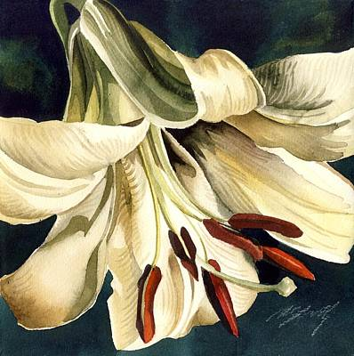 White Lily Art Print by Alfred Ng