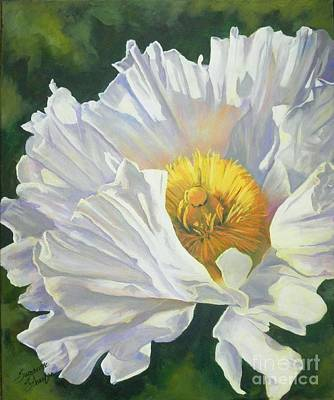 White Poppy Art Print