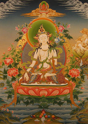 Thangka Painting - White Tara by Art School