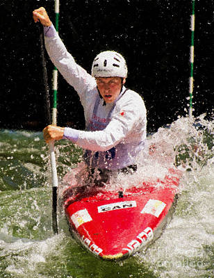 Whitewater Photograph - Whitewater Kayak by Les Palenik