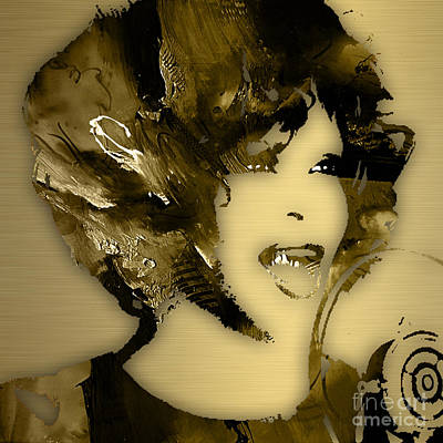 Icon Mixed Media - Whitney Houston Collection by Marvin Blaine