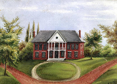 Colonial Williamsburg Painting - Williamsburg Capitol by Granger