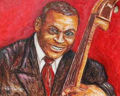 Bassist Painting - Willie Dixon by Michael Titherington