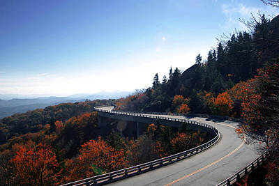 Photograph - Winding Curve At Blue Ridge Parkway by Alex Grichenko