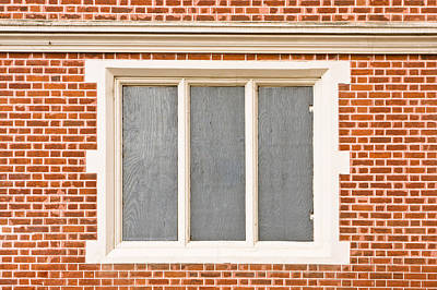 Brick Building Photograph - Window Frame by Tom Gowanlock