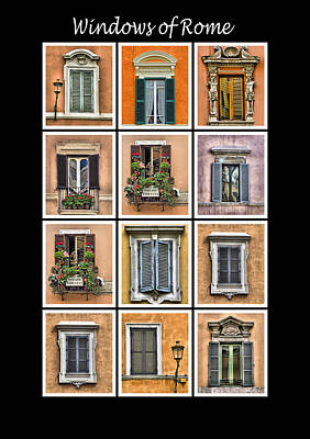 Windows Of Rome Art Print