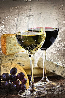 Food And Beverages Photograph - Wine And Cheese by Elena Elisseeva