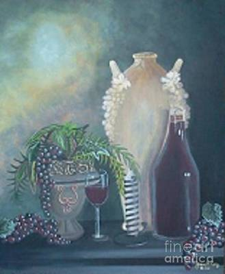 Yvonne Cacy Painting - Wine For Life by Yvonne Cacy