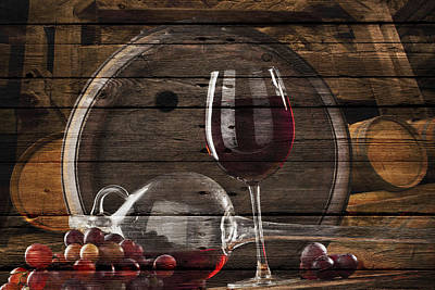 Wine Art Print by Joe Hamilton