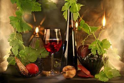 Wine Spirits Art Print by Manfred Lutzius