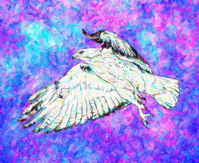 Birding Painting - Winged Being by Celestial Images