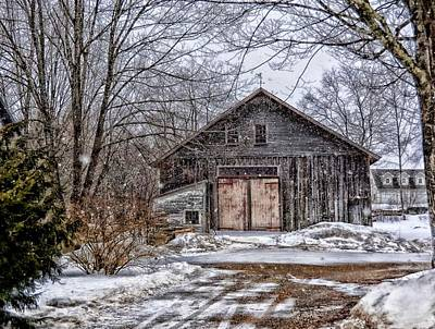 Winter At The Farm Art Print