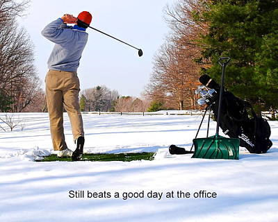 Augusta Golf Photograph - Winter Golf by Frozen in Time Fine Art Photography