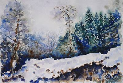 Painting - Winter In Dombay by Zaira Dzhaubaeva