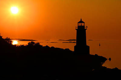Winter Island Lighthouse Sunrise Art Print