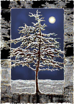 Digital Art - Winter Moon by Ursula Freer