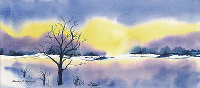 Wall Art - Painting - Winter Morning by Sharalyn Edgeberg