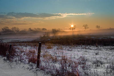 Photograph - Winter Sunrise by Ronald Lutz