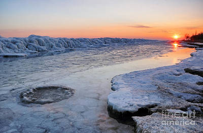 Photograph - Winter Sunset by Charline Xia