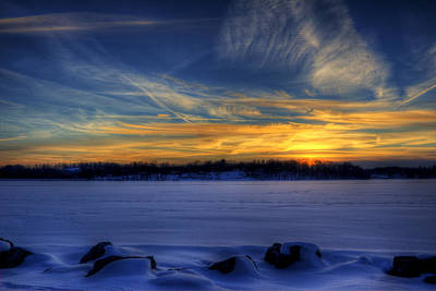 Photograph - Winter Sunset by David Dufresne