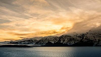 Colorful Button - Winter Sunset by Michele Cornelius