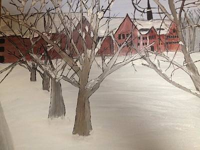 Art Print featuring the painting Winter University by Paula Brown