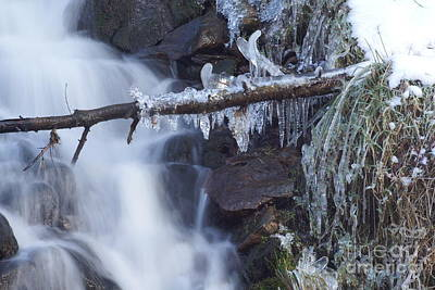 Photograph - Winter Waterfall 4 by David Birchall