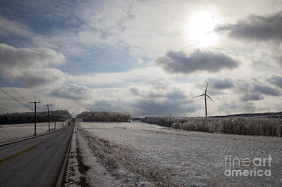 Photograph - Winter Wind Turbine by Jim West