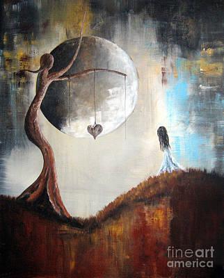 Creepy Painting - Wishing Tree By Shawna Erback by Shawna Erback