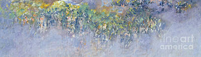 Garden Ornament Painting - Wisteria by Claude Monet