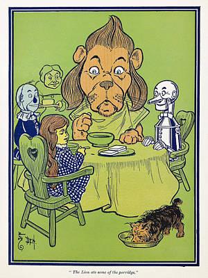 Porridge Drawing - Wizard Of Oz, 1900 by Granger