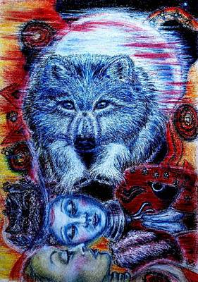 Wolf Dream Art Print by Elizabeth Clausen