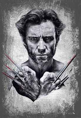 Character Portraits Painting - Wolverine by Andrew Read