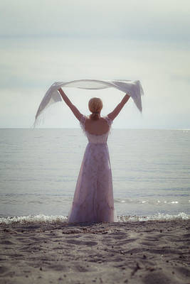 Shawl Photograph - Woman At The Beach by Joana Kruse