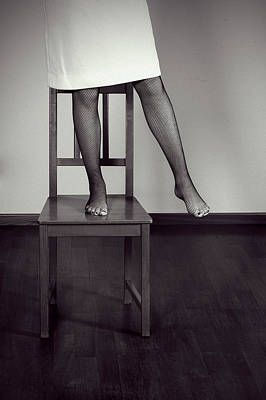 Foot Stool Photograph - Woman On Chair by Joana Kruse