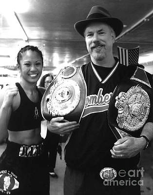 Photograph - Woman's Boxing Champion Filipino American Ana Julaton And Myself by Jim Fitzpatrick