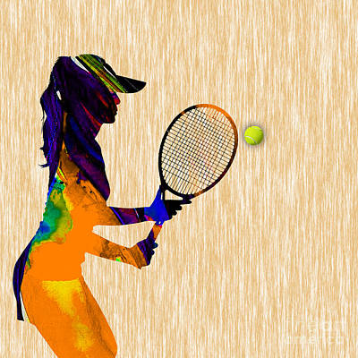 Mixed Media - Womens Tennis by Marvin Blaine