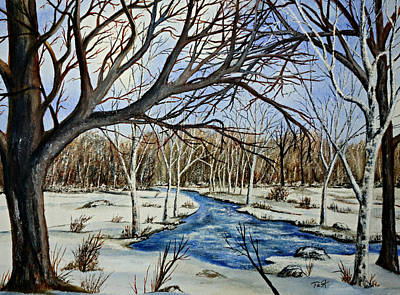 Painting - Wonderful Winter by Thomas Kuchenbecker