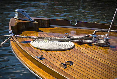 Photograph - Wooden Boat Deck by Eric Miller