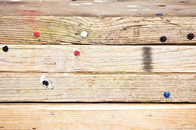 Wooden Planks Art Print by Tom Gowanlock
