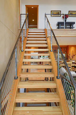 Wooden Staircase Art Print by Will Austin