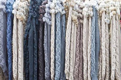 Rack Photograph - Wool Tops by Tom Gowanlock