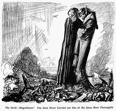 Painting - World War I Cartoon, 1915 by Granger
